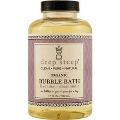 Deep Steep Lavender-chamomile Organic Bubble Bath 17.5 Oz By Deep Steep