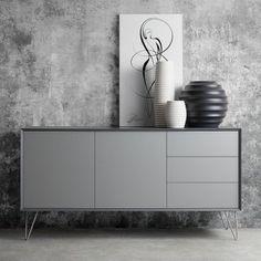 Kommoden Grau Matt : matt grau mehr ideen het huis wohnzimmer matt grau sideboard grau ...