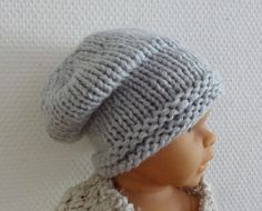 64629881dcf Newborn Hipster Hat - Baby Winter sacking Hat Photo Prop Hat - Newborn Knit  Hat - Toddler knit beanie - Slouchy Beanie newborn boy slouchy