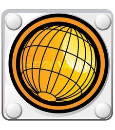 Vector Globe Tile