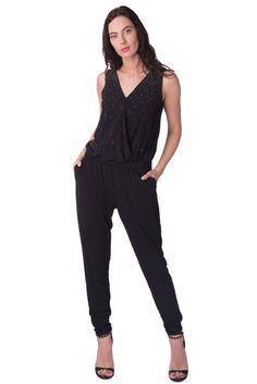 40eec8f4898 MICHAEL MICHAEL KORS Jumpsuit Size S Rhinestoned Wrap Front Drop Crotch RRP  259  fashion