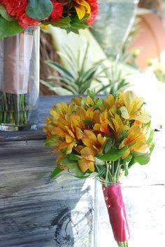 Wedding Bouquet - Yellow Alstroemeria Toss bouquet