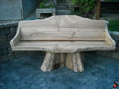 Other Log and Timber Projects by Sitka Log Homes | Log pedestal bench