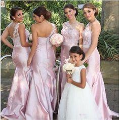 Elegant A-Line Bridesmaid Dress,Mermaid One Shoulder Bridesmaid Dresses,Sleeveless