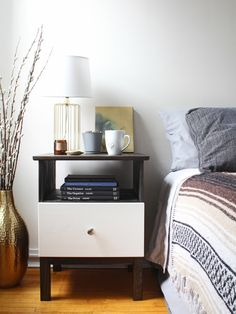 IKEA Hack: TARVA Nightstand Gets Tech-Friendly - See how we transformed the Tarva IKEA nightstand with a rustic makeover, and made it tech-friendly with a hidden charging station! Bedroom Decor On A Budget, Bedroom Hacks, Ikea Bedroom, Decorating On A Budget, Home Bedroom, Girls Bedroom, Tarva Ikea Hack, Ikea Hacks, Ikea Hack Nightstand