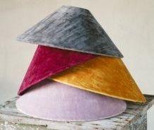 Velvet lampshades