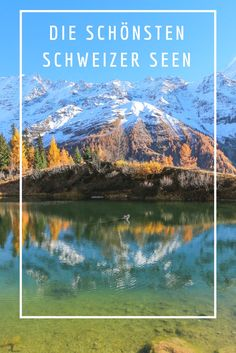 Die schönsten Seen der Schweiz - Reiseblog. Time Travel, Places To Travel, Places To See, Travel Destinations, Travel Around The World, Around The Worlds, Places In Switzerland, Swiss Travel, Reisen In Europa