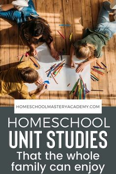 Homeschool Unit Studies for the Entire Family. This list of homeschool unit studies have a little something for all ages. #unitstudies #homeschool #unitstudy #homeschooling Homeschool High School, Homeschool Kindergarten, Homeschool Curriculum, Homeschooling, Preschool, Teaching History, Character Education, Unit Studies, The Unit