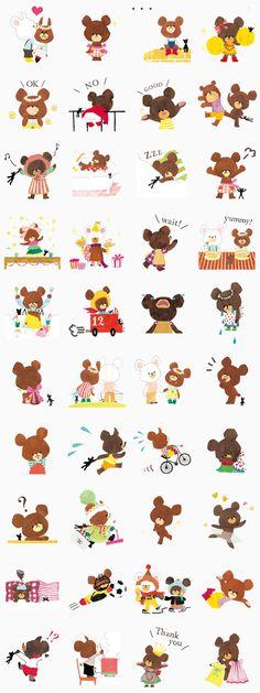 947 - 小熊學校 貼圖代購_熊熊系列_Line貼圖代購_雲訊LINE貼圖購買
