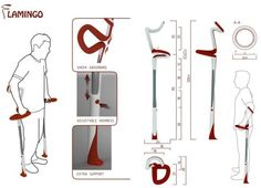 Flamingo crutches offer stability and precise mobility to users
