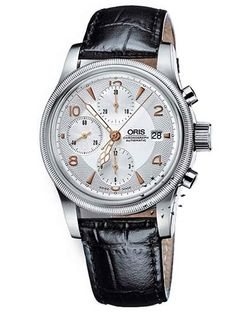 ORIS Big Crown Automatic Chronograph Black Leather  Τιμή: 1.288€  http://www.oroloi.gr/product_info.php?products_id=10265