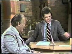 """:: VIDEO ::  John Keel, author of The Mothman Prophecies and who coined the term """"Men in Black,"""" interviewed by David Letterman on 7/28/80.    If you've never read The Mothman Prophecies, you should. It will scare the HELL out of you: http://amzn.to/U3hO7r"""
