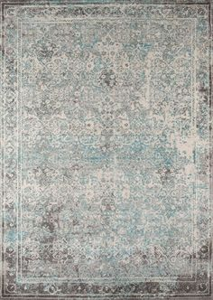 Luxe Turquoise Area Rug
