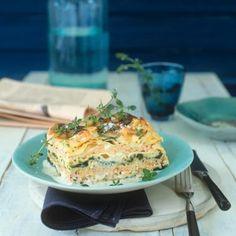 Und was gibt es bei dir heute Mittag? Wir gönnen uns die herzhafte #Lasagne mit #Spinat und #Lachs