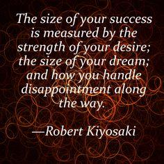 How do you handle disappointment? #Robert Kiyosaki via ellegoesintobusiness.blogspot.com