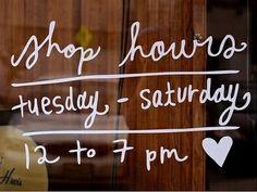 Store hours idea