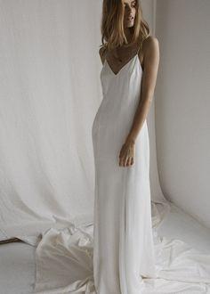 6f3a0e86369f 7 Best Slip wedding dress images   Lace, Party Dress, Bridal gowns