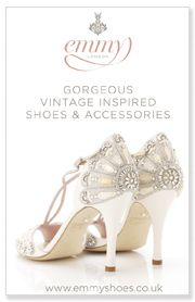 Emmy Shoes. This company has the coolest, most beautiful bridal shoes from the UK. They are all breath taking.