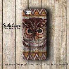 IPHONE 5S CASE OWL Aztec Tribal Native Bird Wood iPhone Case iPhone 5 Case iPhone 4 Case Samsung Galaxy S4 S3 Cover iPhone 5c iPhone 4s case...
