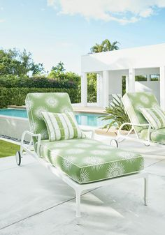 Designed for active living and exposure to the elements in mind, Thibaut introduces Solstice—a collection of Sunbrella® indoor/outdoor fabrics that have style with staying power. Sunbrella Outdoor Cushions, Sunbrella Fabric, Outdoor Fabric, Outdoor Doors, Indoor Outdoor, Outdoor Living, Patio Kitchen, New Wallpaper, Outdoor Seating