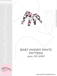 Trendy sewing patterns for baby clothes harem pants 16 Ideas Sewing Baby Clothes, Sewing Pants, Baby Clothes Patterns, Baby Sewing, Baby Patterns, Sewing Patterns, Shirt Patterns, Diy Clothes, Dress Patterns