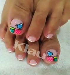 Pretty Toe Nails, Pretty Toes, Cute Pedicures, Toe Nail Art, Wedding Nails, Girly Things, Nail Art Designs, Manicure, Finger