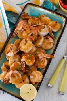 Spicy, Peppery Shrimp with Lemon-Soy Garlic Dip