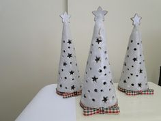 Winter - Luminary trees. Create a cone template. Use the little tealight battery operated candles - kids loved it!