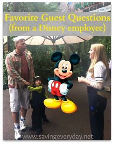 Disney fans!! If you want a good laugh, check out my daughter's list of favorite guest questions (the last one always cracks me up!!)