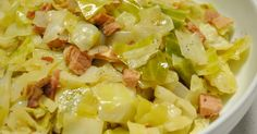 Ingredients 6 slices bacon, chopped  1 large onion, diced  2 cloves garlic, minced  1 large head cabbage, cored and sliced  1 tablespoon salt, or to taste  1 teaspoon ground black pepper  1/2 teaspoon onion powder  1/2 teaspoon garlic powder  1/8 teaspoon paprika
