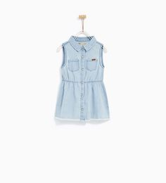 SLEEVELESS DENIM DRESS-DRESSES AND JUMPSUITS-BABY GIRL | 3 months - 4 years-KIDS | ZARA United States