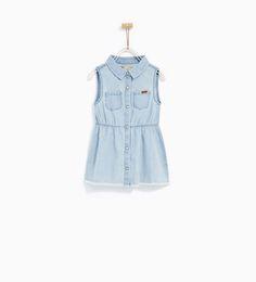 SLEEVELESS DENIM DRESS-DRESSES AND JUMPSUITS-BABY GIRL | 3 months - 4 years-KIDS | ZARA United States