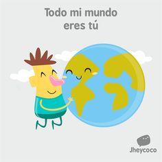 #jheycoco #humor #ilustración #cute #tierno #mundo #tu #amor