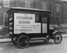 95 years and still going strong! Check out the prototype door that was driven to fairs and expositions to demonstrate how an overhead door worked when it was first invented. What special tactics do your sales reps use today? #OHD95  http://www.overheaddoor.com/Pages/company-history.aspx