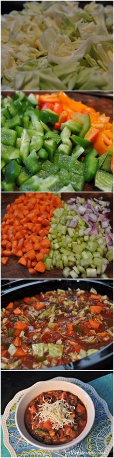 Slow Cooker Cabbage Soup - This has become my favorite crock pot soup. It is rich and hearty while being healthy. You will love the complex flavor of this soup and it is even better the next day!: