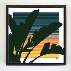 "Overflow series: ""Cool night"" 24 x 24 inch, digital art & gloss and matte gel on stretched canvas. 26.5 x 26.5 inch, float frame - black flat. ---------------------------------------- #popart #popartist #digitalart #contemporaryart #colorfield #abstractart #gloss #matte #art #canvas #jonsavagegallery"