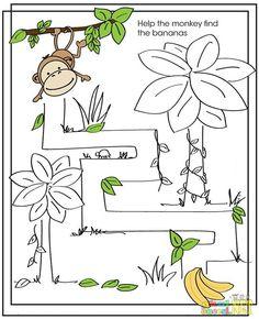 Maymunu Muza Götür (Labirent) - Okul Öncesi NET / Okul Öncesi Forum Sitesi