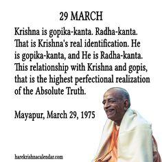 Srila Prabhupada Quote for 29 March 2014