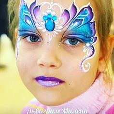Face Painting Flowers, Butterfly Face Paint, Face Painting Designs, Princess Face Painting, Butterfly Birthday Party, Princess Crowns, Fairy Princesses, Facial, Make Up