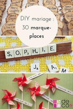 DIY mariage : 30 marque-places à fabriquer // http://www.deco.fr/loisirs-creatifs/photos-78861/