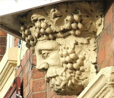 Bacchus God of wine. Adorning the Oddfellow Arms, Blyth