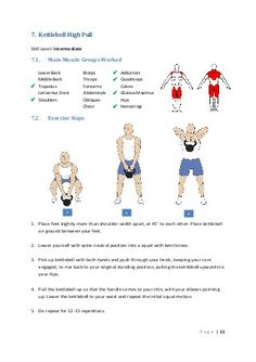 Kettlebell High Pull Skill Level: Intermediate Main Muscle Groups Worked Lower Back Middle Back  Trapezius Lat. Kettlebell Challenge, Kettlebell Circuit, Kettlebell Training, Kettlebell Routines, Rope Training, Weight Training, Circuit Training, Mens Fitness, Fitness Tips