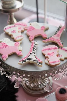 Pink Paris themed baby shower with So Many Really Cute Ideas via Kara's Party Ideas! full of decorating ideas, cakes, favors, games, and more!  www.MadamPaloozaEmporium.com www.facebook.com/MadamPalooza