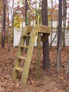 zipline platforms for the backyard | Zipline platform.