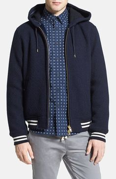 Gant+Rugger+Wool+&+Cotton+Knit+Zip+Hoodie+available+at+#Nordstrom