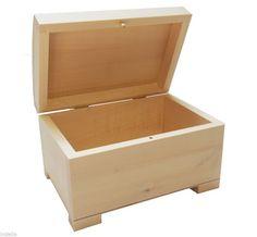 Unfinished UNPAINTED Wooden Box | DECOUPAGE | Storage Jewellery Treasure Chest  sc 1 st  Pinterest & 35 best Jewellery Boxes images on Pinterest | Wooden jewelry boxes ...