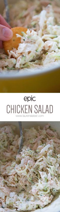 Epic Chicken Salad.... My favorite way to get in some lean protein! I love it as a snack or a light lunch!