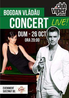 Concert Bogdan Vladau, Duminica, in Viper Club