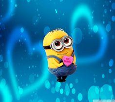 Minion be mine heart pink