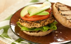 Phase 3 Red Pepper and Basil White Bean Burgers -- serve open-faced, absolutely perfect for Phase 3. (The recipe calls for grilling, but these broil just as easily.)